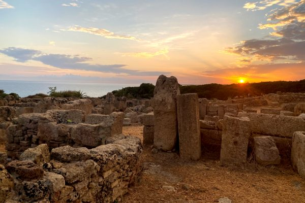 sunset from the archaeological area of Selinunte