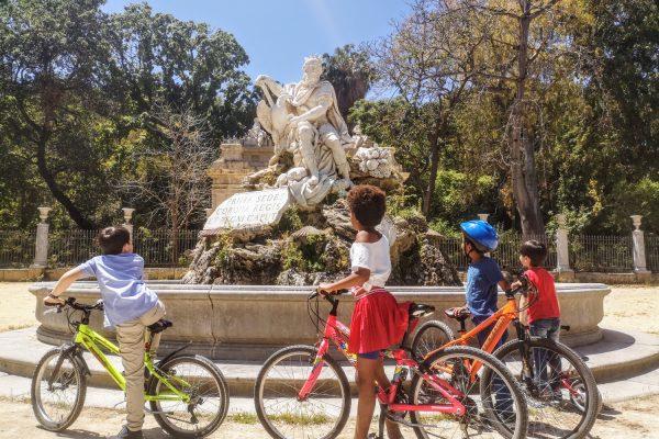 tour di Palermo in bici per famiglie