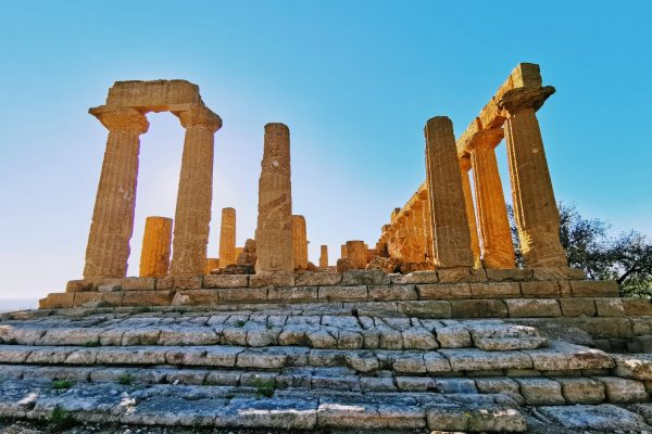 The Temple of Hera, or Juno, otherwise known as Temple D, in the temples valley of Agrigento